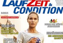 LAUFZEIT&CONDITION 5/2015 mit einem Blumenstrauß aus frischen Themen