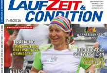 Sommerausgabe von Eurer LAUFZEIT&CONDITION 7+8/2016 lässt Läuferherzen höher schlagen