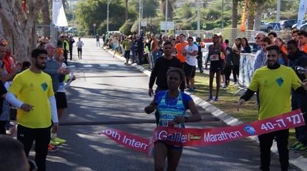 Streckenrekord zum 40.Jubiläum beim Tiberias-Marathon 2017