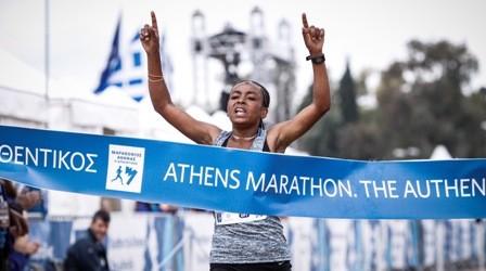 Samuel Kalalei und Bedatu Hirpa Badane gewinnen Athen-Marathon