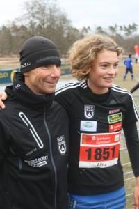 erfolgstrainer Jürgen Austin-Kerl mit Schützling Alina Reh