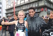 Fabienne Amrhein und Amanal Petros gewinnen auf der B 1